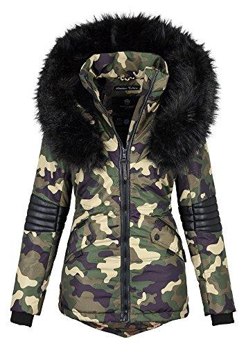 Donna Invernale Stile Parka nbsp;b369 Navahoo nbsp;giacca Sintetica Da In Pelliccia Mimetico – wxXngxaqS