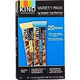 KIND Bars, Gluten Free, 1.4 Ounce Bars, (20 Salted Caramel & Dark Chocolate Almong Dark Ch, 20 BARS)