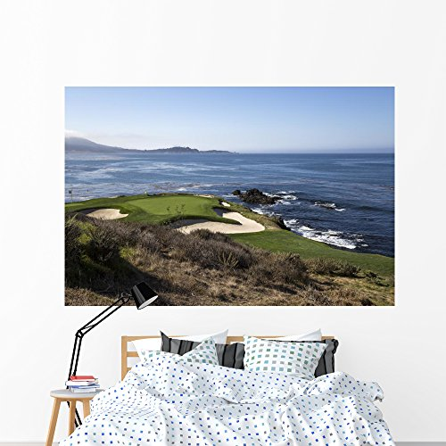 Wallmonkeys Pebble Beach Golf Course Wall Mural Peel and Stick Graphic (72 in W x 48 in H) WM366261