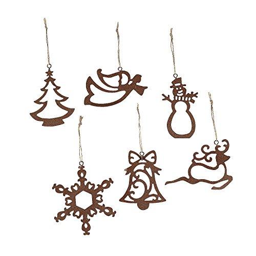 Laser-cut Ornaments (12 Ct)- Christmas Tree, Snowflake, Reindeer, Angel and (Angel Snowman)