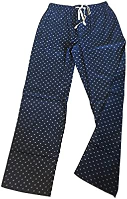 Calvin Klein Logo Mens 100% Cotton Pajama Sleep Pants Sleepwear Navy Large