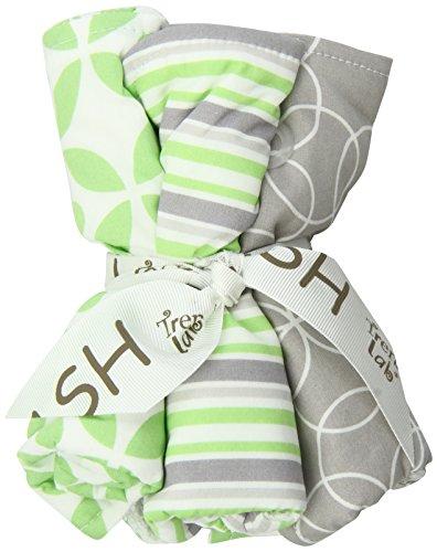 Trend Lab Lauren Wash Cloth Set, Green, 5 - Washcloths Blooming Bouquet