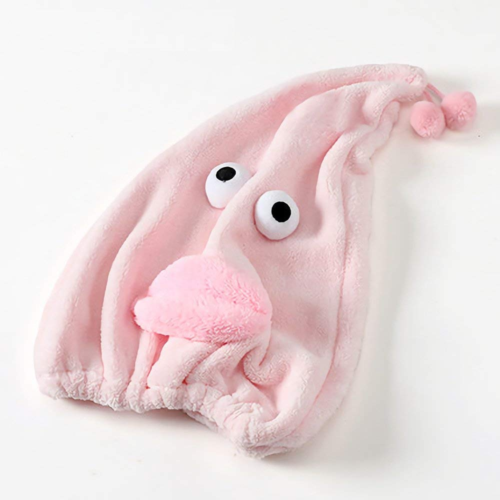 turbante de cabello de secado r/ápido EWENYS Toalla de cabeza s/úper absorbente de dibujos animados para ni/ños toalla de microfibra rosa gorro de toalla de pelo seco anti ca/ídas