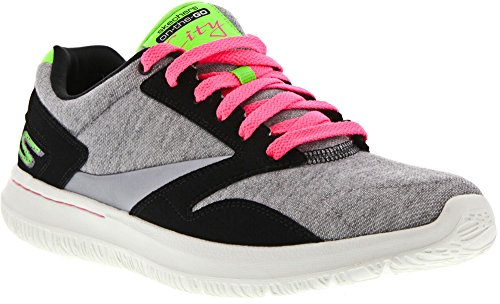 Go City Top Skechers Women's nbsp;Uptown Gray Low Trainer Black Walk qCFPAxPwRS