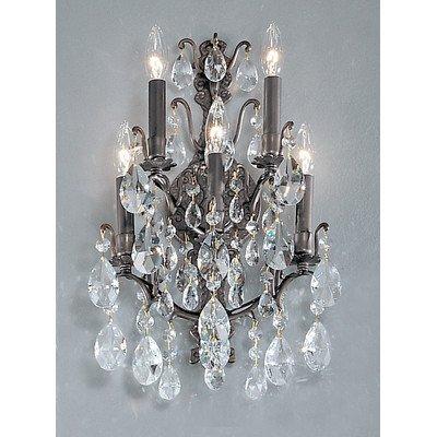 Versailles Bronze Antique Sconce - Classic Lighting 9002 AB SC Versailles, Crystal, Sconce/WallBracket, Antique Bronze