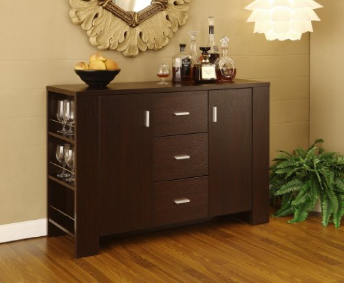 Dining Room Server Sideboard Buffet , Cappuccino Finish