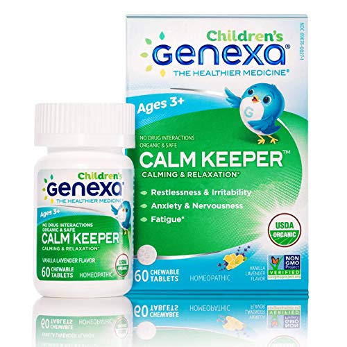 Genexa Calm Keeper for Children - 60 Tablets | Certified Organic & Non-GMO, Physician Formulated, Homeopathic | Calming & Relaxation Aid for Children