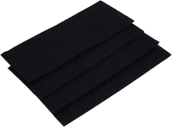 FTVOGUE 4 filtros cuadrados de esponja de carbón activo de ...