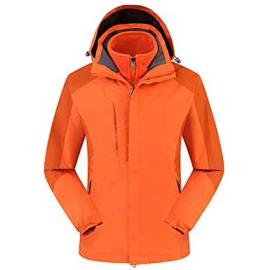 Hoodies for Men with Designs.Mens Outdoor Outfit Two Piece Three in One Warm Waterproof Breathable Coat