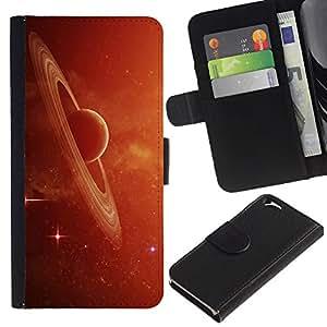 Leather Etui en cuir || Apple Iphone 6 || Saturno Anillos Rojo Galaxy el cúmulo de estrellas de polvo Planet @XPTECH