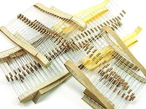 Piezas / pcs. 200 x Resistencias / Resistor, 0.25W, 4 x 50 piezas /pcs. Resistencias (220 Ohm, 330 Ohm, 1K, 10K) #A760