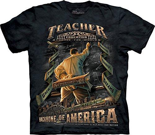The Mountain Men's Teachers T-Shirt, Black, 3XL