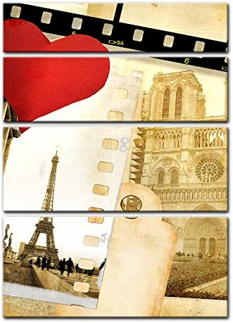 Bilderdepot24 Cuadros en Lienzo Paris in Love 30 x 40 cm - Listo ...