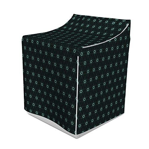 (Ambesonne Stars Washer Cover, Hand Drawn Triangles and Hexagons Ethnic Lines Composition Oriental Illustration, Decorative Accent for Laundromats, 29