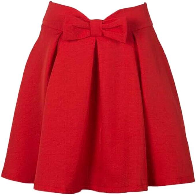 Faldas Mujer Primavera Otoño Colores Sólidos A-Línea Moda Joven ...