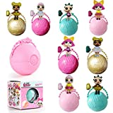 Egg Shakers Educational Game Toy,Small Model Guardians Doll Egg Shape Sorter Preschool Montessori Toys for Toddlers Age 3+ Random Color
