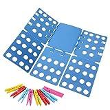 Ohuhu Clothes Folder - Adult Dress Pants Towels T-shirt Folder Blue