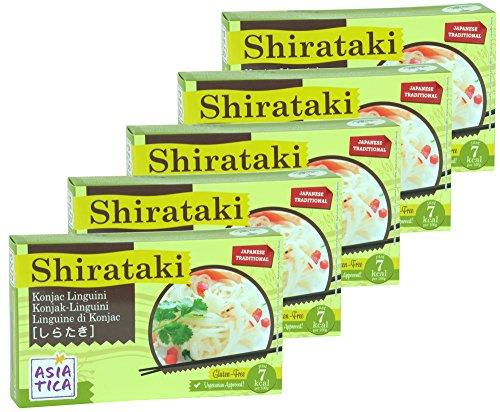 Asiatica - Shirataki Konjak Linguini - 5er Pack - 5 x 300g / ATG 200g