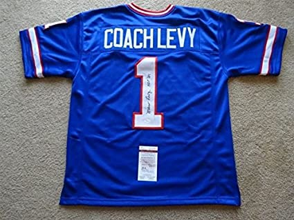 competitive price 8790c 77076 MARV COACH LEVY SIGNED AUTO BUFFALO BILLS BLUE JERSEY HOF 01 ...
