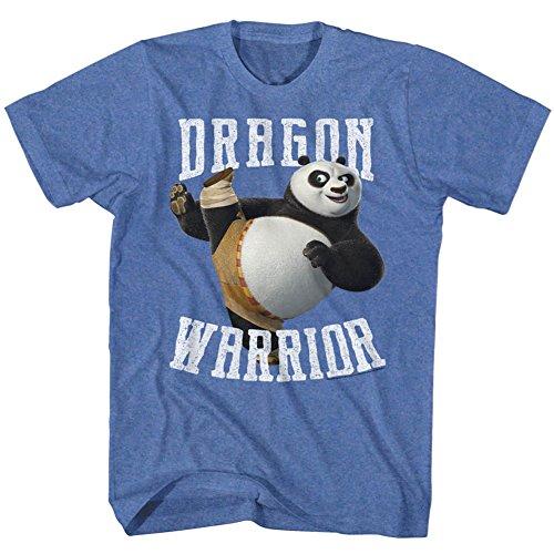 American Classics Kung Fu Panda Movie D Warrior Royal Heather Adult T-Shirt Tee