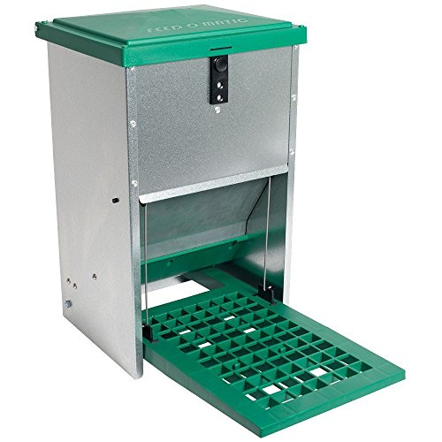 Automatic Treadle Feeder - For Chickens And Other Poultry (4-6 Hens - 17.5 Pounds of Feed) - 4 Poultry