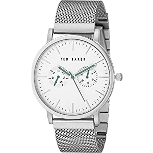 Ted Baker Mens Smart Casual Collection Custom Multifunction Sub-Eye w/Contrast Detail Date Mesh Bracelet Watch
