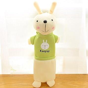 Wukong coreano estilo conejo de peluche con estuche niños papelería estudiante lápiz soporte