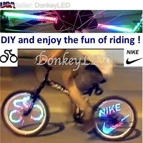 UPC 617723505721, 48 Full Color LED Bike Wheel Light - 48 Patterns Plus Program 20 More - Waterproof