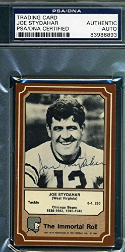Joe Stydahar 1975 Fleer Ultimate Roll Signed Original Autograph - PSA/DNA Certified - NFL Autographed Football Cards ()