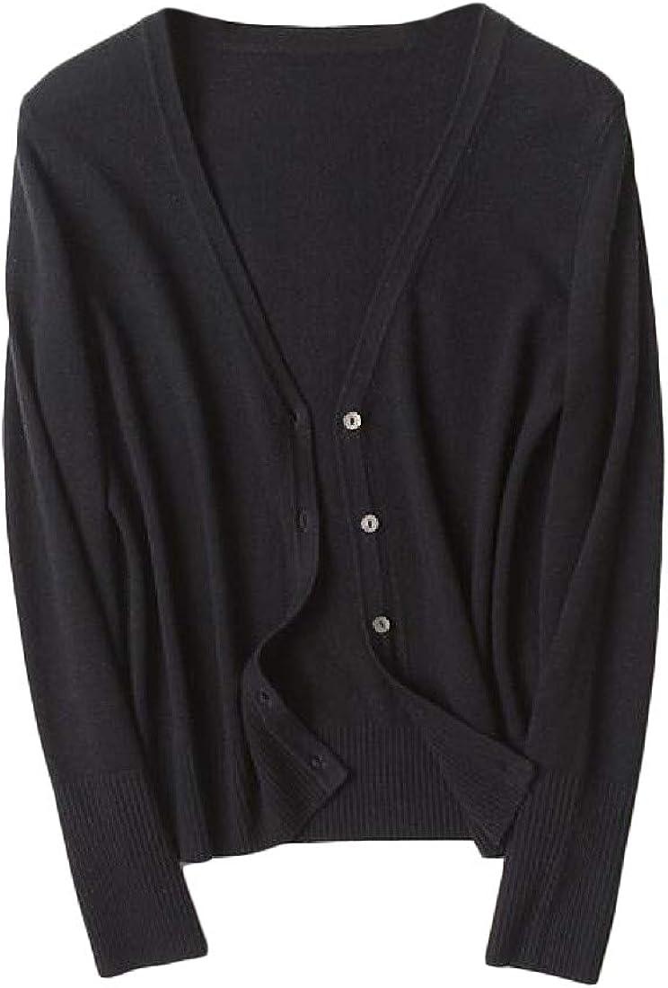GLORYA Women Top V Neck Knit Jacket Shawl Coat Cardigans