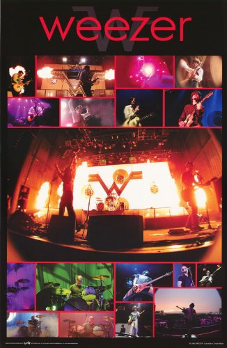 Weezer Poster Band Shot Collage