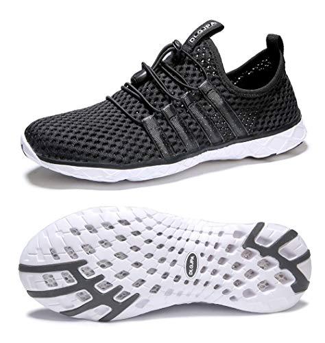 DLGJPA Men's Lightweight Quick Drying Aqua Water Shoes Athletic Sport Walking Shoes
