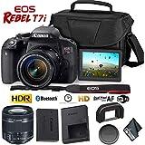 Canon EOS Rebel T7i DSLR Camera 18-55mm Lens + Carrying Case photo