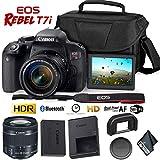 Canon EOS Rebel T7i DSLR Camera 18-55mm Lens + Carrying Case