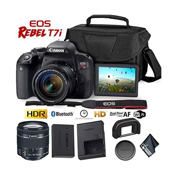 51tHTJPzJFL. SS600  - Canon EOS Rebel T7i DSLR Camera 18-55mm Lens + Carrying Case
