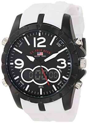 U.S. Polo Assn. Sport Men's US9250 White Analog Digital Strap Watch by U.S. Polo Assn. Sport