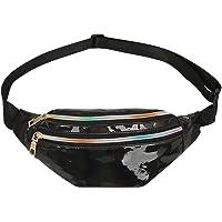 AFFECO Crossbody Fanny Packs Reflective Laser Women Belt Waist Bum Shoulder Bags