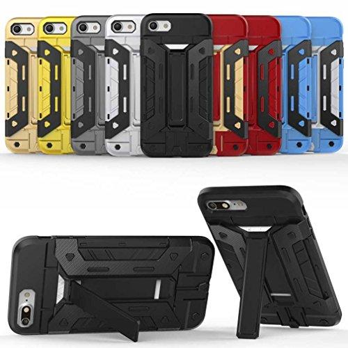"""5.5"""" iPhone 7 Plus Coque, AOFad Case Protection des lourds Béquille D'insertion de carte rouge Plastique Vidéo Armure Accessoires Série Pour Femme Homme L037"""