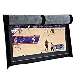 BroilPro Accessories Outdoor 50'' TV SET Cover,Scratch Resistant liner protect LED Screen best-Compatible with Standard Mounts and Stands (Black)