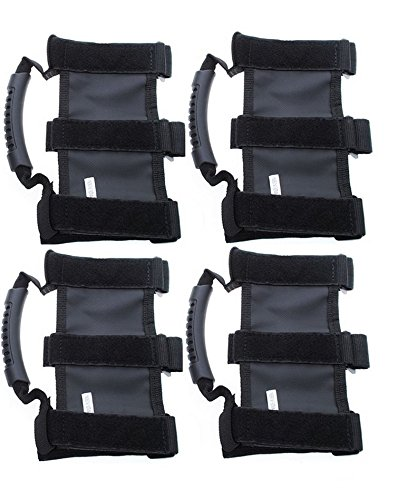 Jeep Grab Handles,Topist Heavy Duty Ultimate Roll Bar Grab Handles Set, Jeep Wrangler Grab Bar, Easy-to-fit for Off Road Enthusiasts, Pack of 4