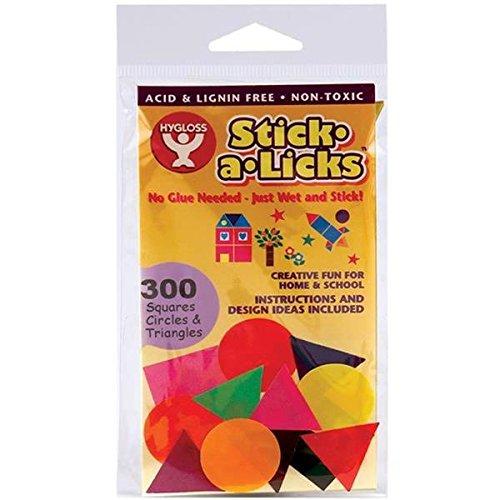 Stick-A-Licks 300//Pkg-1 Squares//Circles//Triangles