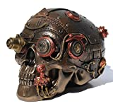 Steampunk Skull Leather Texture Trinket Box