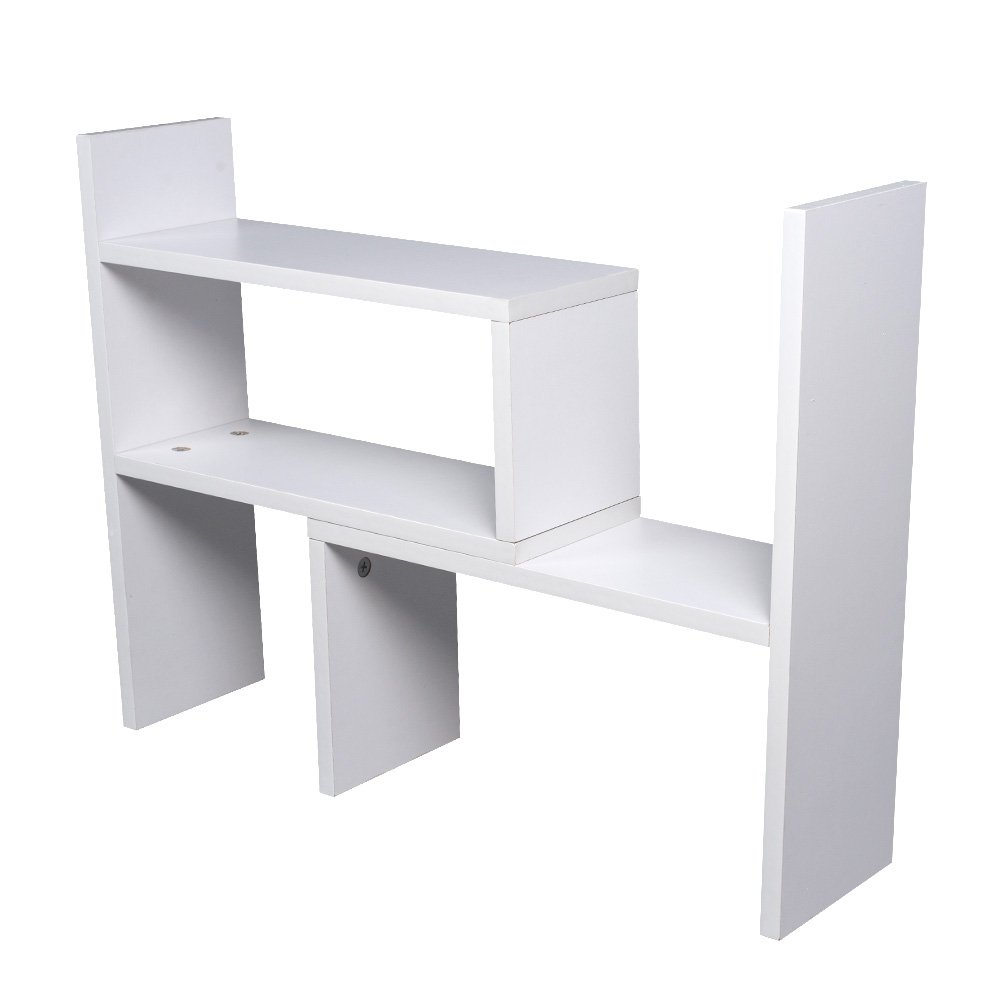 Senweit adjustable desk bookshelf desktop tidy organiser display senweit adjustable desk bookshelf desktop tidy organiser display storage shelves white freestanding bookcase cd storage rack shelf unit cube cosmetic altavistaventures