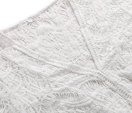Hollow Cover Da Bagno Spiaggia Coprire Bianco Abito Garsumiss Bikini Coprire Donne Pizzo Out Up Da Da Bagno PwXAE