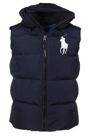 1594a10fc6c07 Ralph Lauren - Manteau sans Manche - Homme - Bleu - XXL  Amazon.fr   Vêtements et accessoires