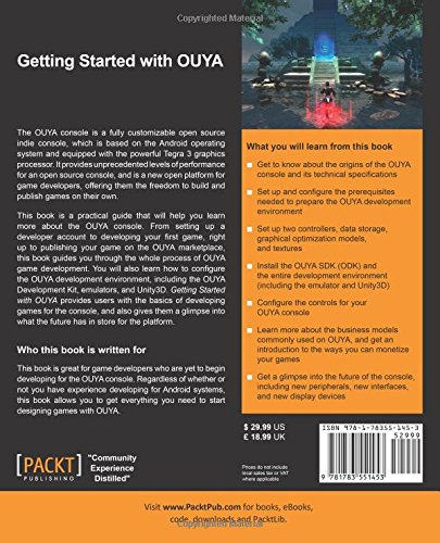 Libro: Getting Started with OUYA (Contraportada)