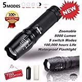 Qisc G700 Led Flashlight with 5 Modes and Zoom Function