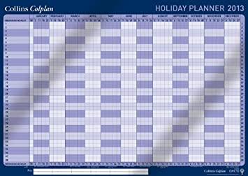Collins CWC10 Colplan 2013 Holiday Wall Planner: Amazon.co.uk ...