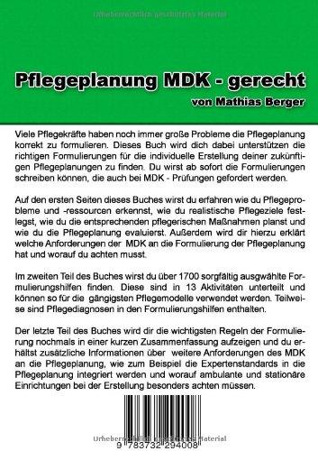 Pflegeplanung Mdk Gerecht Amazonde Mathias Berger Bücher