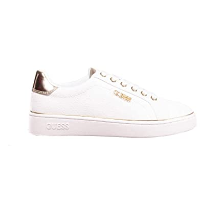 5a79fdce71310 Guess, Beckie White Baskets Mode Blanc Or pour Les Femmes  Amazon.fr ...